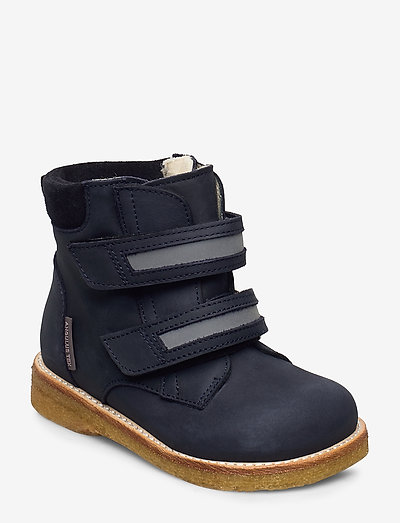 Boots - flat - with velcro - begyndersko - 1587/2012/2215/2022 navy/refle
