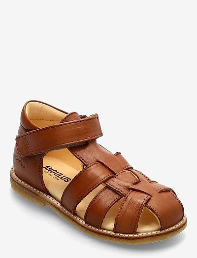 Sandals - flat - closed toe -  - remsandaler - 1545 cognac