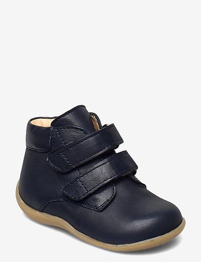 Shoes - flat - with velcro - begyndersko - 1546 navy