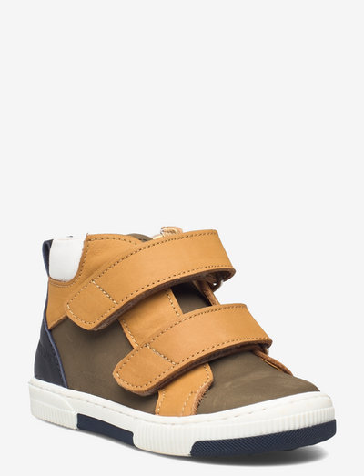 Shoes - flat - with velcro - høje sneakers - 1253/1262/1530/1521 m.olive/ca