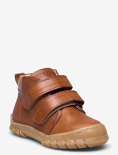 Shoes - flat - with lace - støvler - 1545 cognac