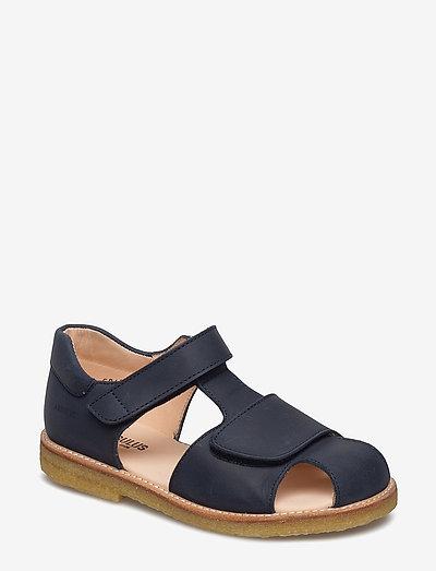 Sandals - flat - closed toe -  - remsandaler - 1587 dark blue