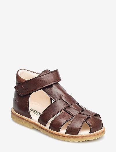 Sandals - flat - closed toe -  - remsandaler - 1562 angulus brown