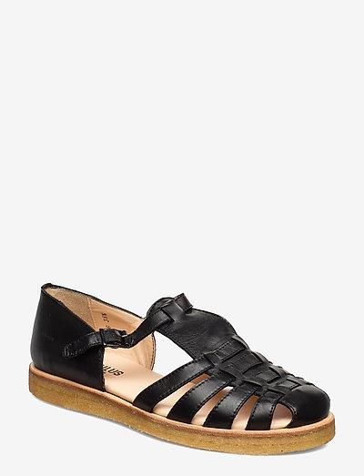 Sandals - flat - closed toe - op - flade sandaler - 1604 black