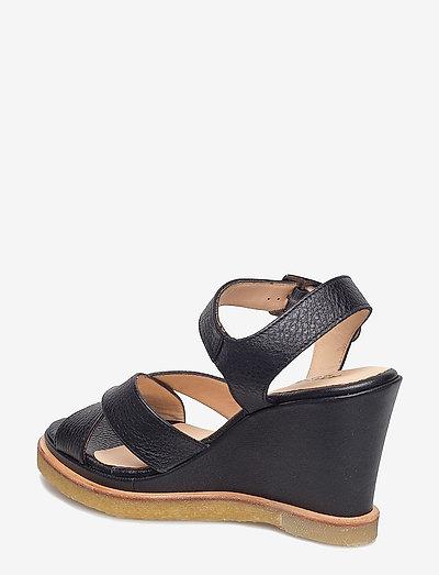 Angulus Sandals - Wedge- Absatzschuhe 1933 Black