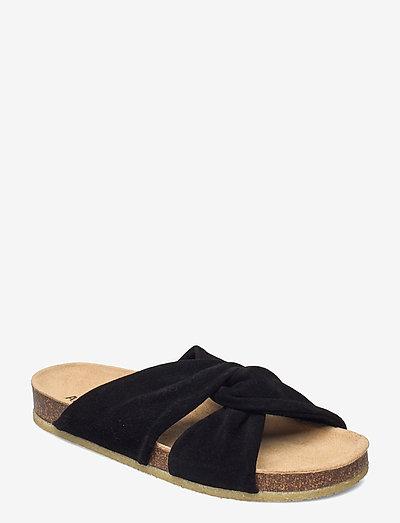 Sandals - flat - open toe - op - flade sandaler - 1163 black