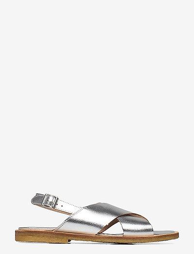 Sandals - flat - open toe - op - flade sandaler - 1782 silver