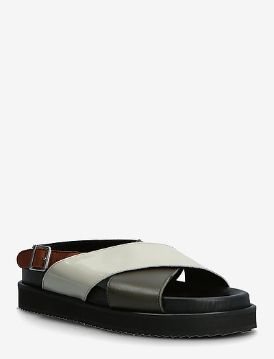 Sandals - flat - open toe - op - flade sandaler - 1604/1446/2387/1548 black/oliv