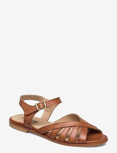 Sandals - flat - open toe - op - flade sandaler - 1789 tan