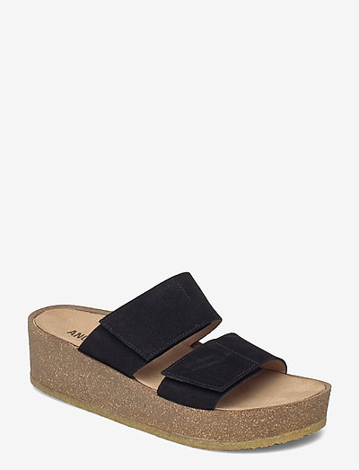 Sandals - flat - open toe - op - højhælede sandaler - 1163 black