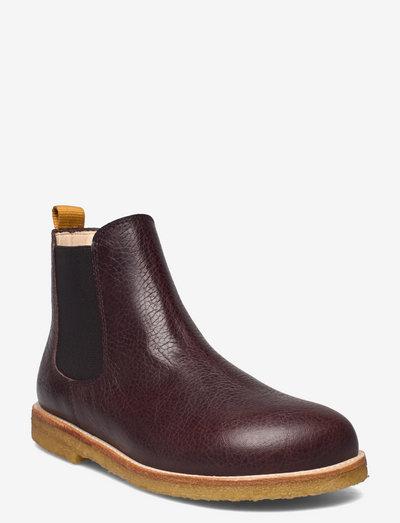 Booties - flat - with elastic - støvler - 2505/002/2045 dark brown/brown