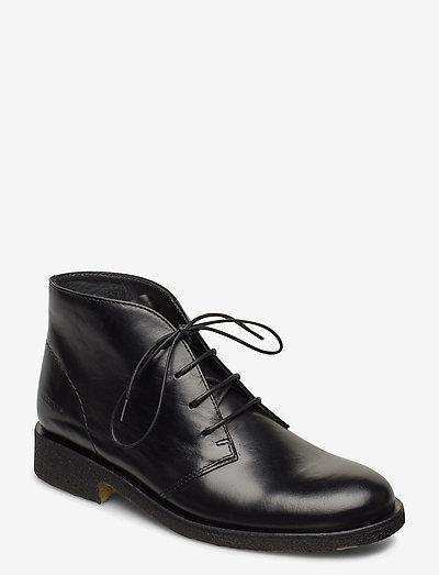 Booties - flat - flade ankelstøvler - 1835 black