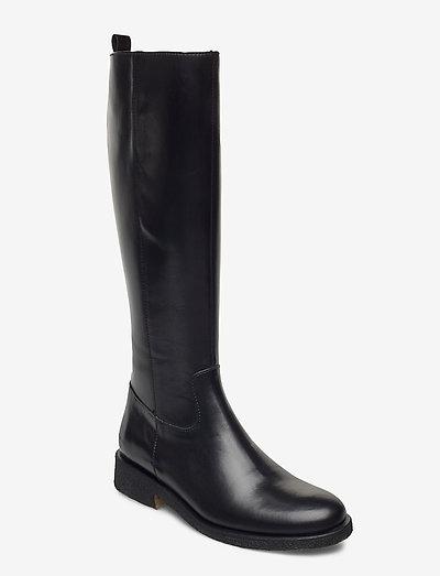 Boots - flat - langskaftede - 1835/001 black/black