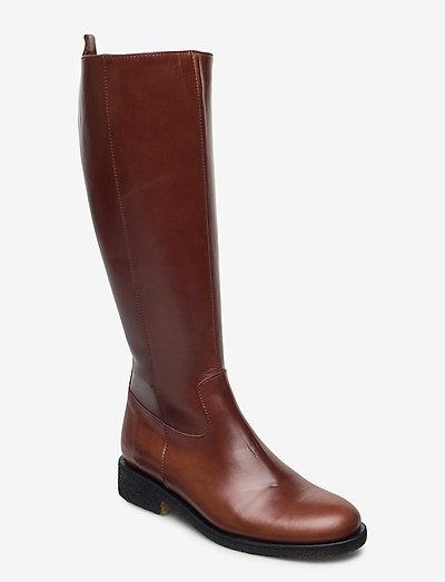 Boots - flat - langskaftede - 1837/002 brown/dark brown