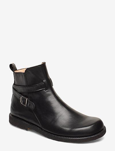 7109 - flade ankelstøvler - 1604 black