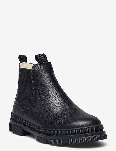 Booties - flat - with elastic - støvler - 2504/019 black/black