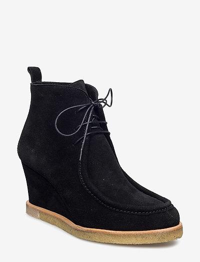Booties - Wedge - ankelstøvler med hæl - 1163 black