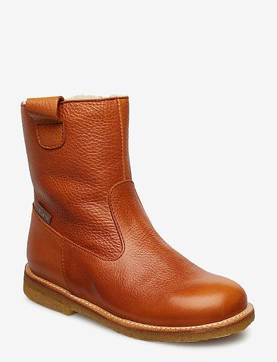Boots - flat - vinterstøvler - 2621/1431 cognac/cognac