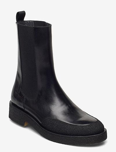 Booties - flat - with elastic - flade ankelstøvler - 321/1835/001 black