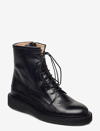 Boots - flat - flade ankelstøvler - 1835 black