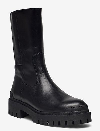 Boots - flat - flade ankelstøvler - 1835/019 black /black