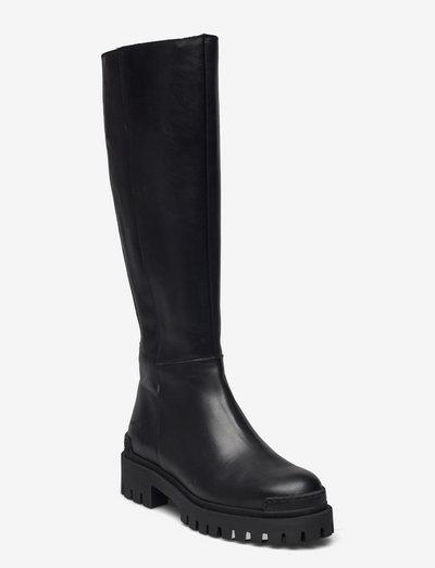 Boots - flat - langskaftede - 1604/001 black/black