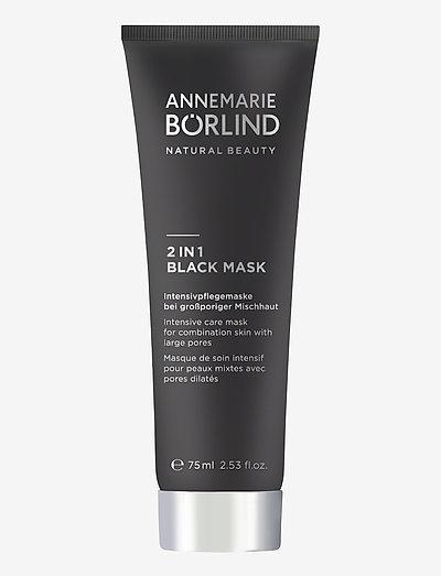 2 in 1 Black Mask - ansiktsmasker - no colour