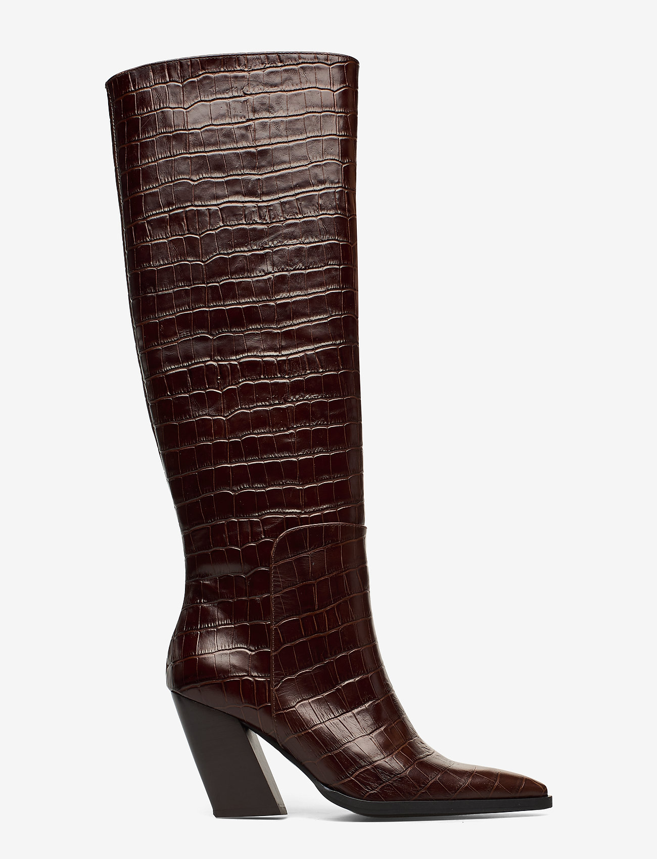 ANNY NORD - ESCAPE FROM THE WEST Tall Boot - lange laarzen - brown croc - 1