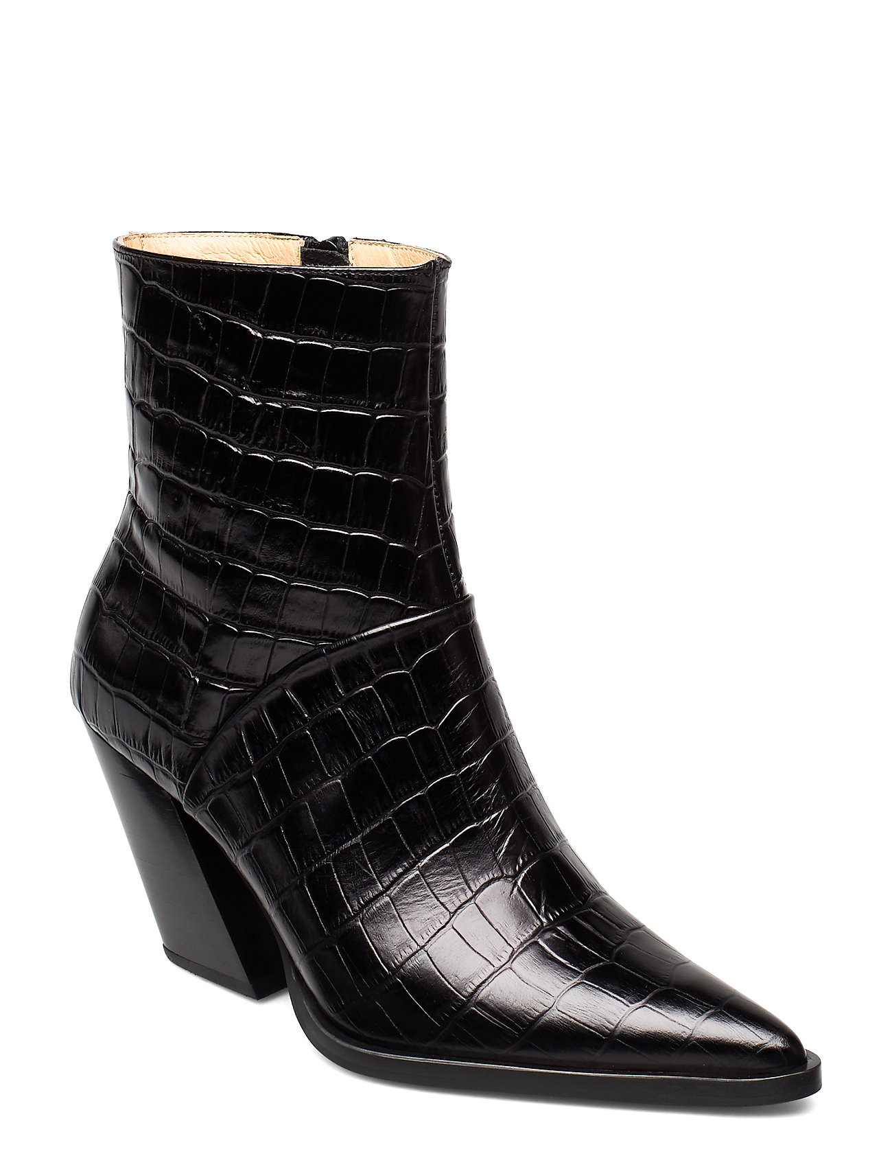 Image of Escape From The West Ankle Boot Shoes Boots Ankle Boots Ankle Boots With Heel Sort ANNY NORD (3247206823)