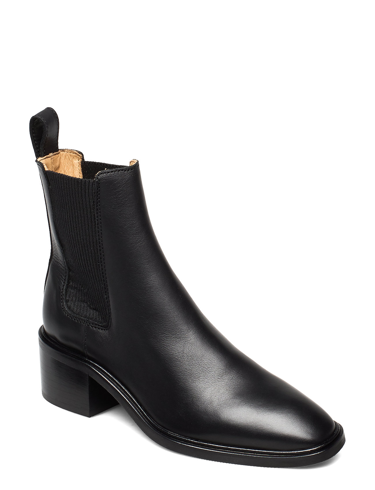Image of All Day All Night Shoes Boots Ankle Boots Ankle Boot - Heel Sort ANNY NORD (3445363189)