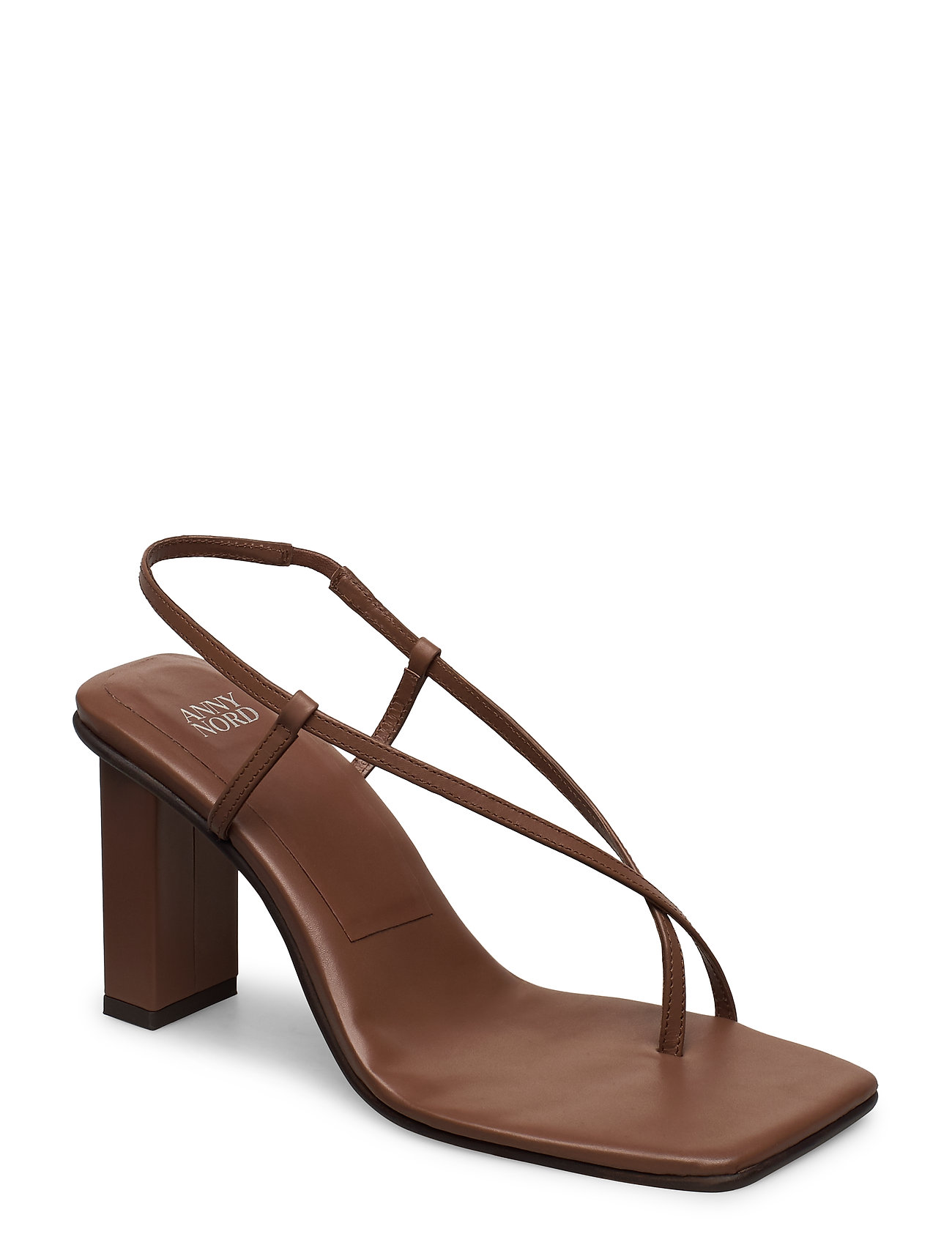 Image of Never Wrong Thong Sandal Med Hæl Brun ANNY NORD (3406319149)
