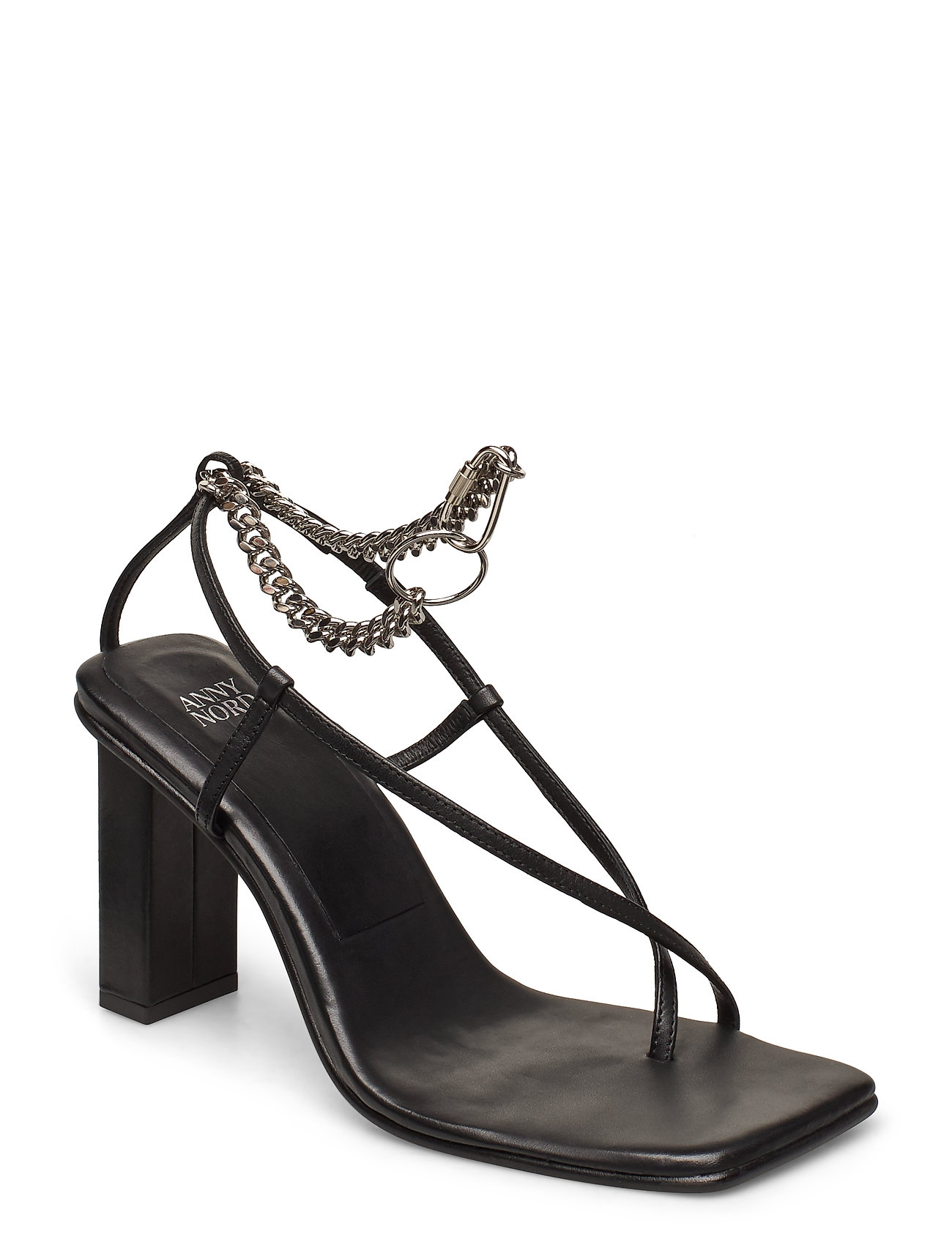 Image of Shake The Chains Sandal Med Hæl Sort ANNY NORD (3406319129)