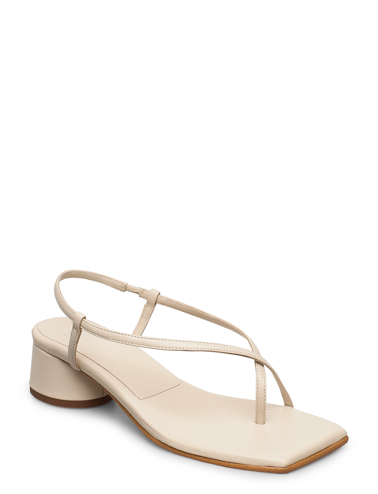 Image of All Day Long Thong Sandal Med Hæl Creme ANNY NORD (3406319131)