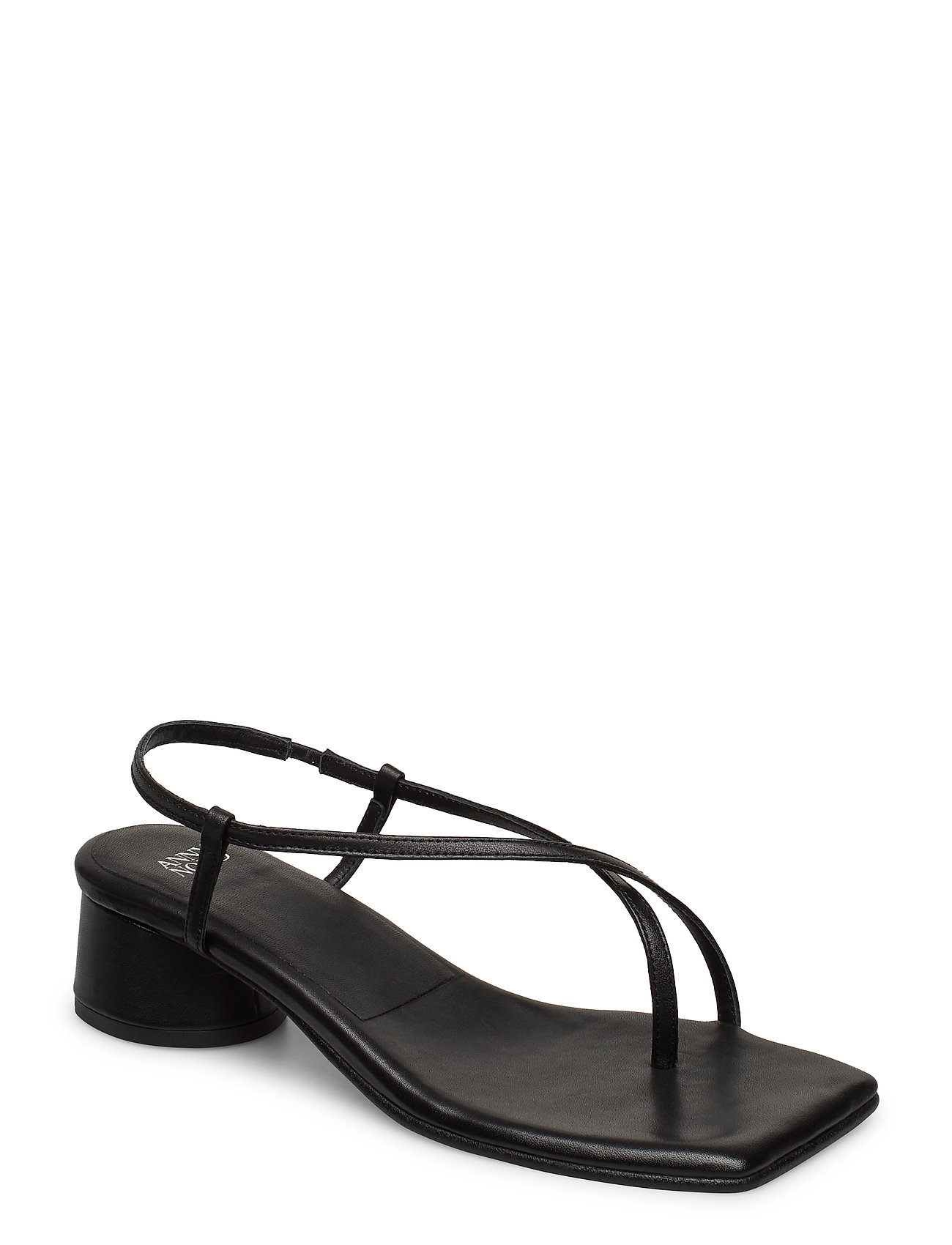 Image of All Day Long Thong Sandal Med Hæl Sort ANNY NORD (3406319135)