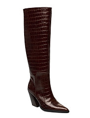ESCAPE FROM THE WEST Tall Boot - BROWN CROC