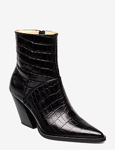 Escape From The West Ankle Boot - BLACK CROC
