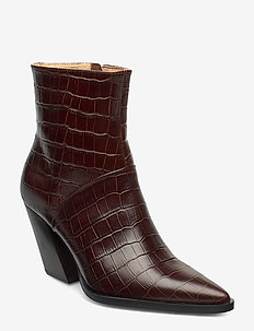 Escape From The West Ankle Boot - BROWN CROC