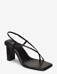 NEVER WRONG THONG - sandały na obcasie - 90 black