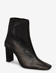 JOAN LE CARRÉ Ankle Boot - wysoki obcas - 999 black mesh