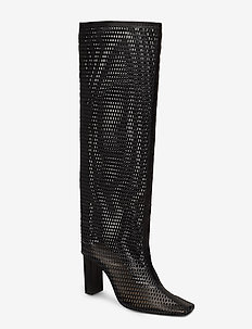 JOAN LE CARRÉ Tall Boot - lange stiefel - 999 black mesh