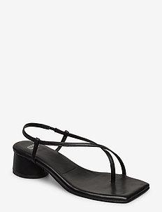 ALL DAY LONG THONG - sandały na obcasie - 90 black