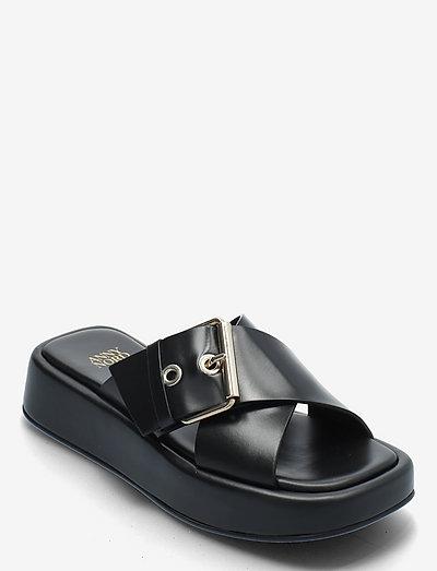 DETOX - platte sandalen - black