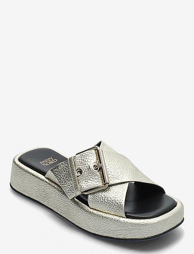 DETOX - platte sandalen - pale gold