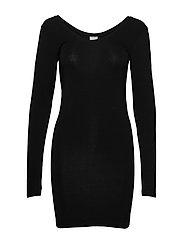Long Top Long Sleeve - BLACK