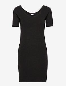 Long Top Short Sleeve - BLACK