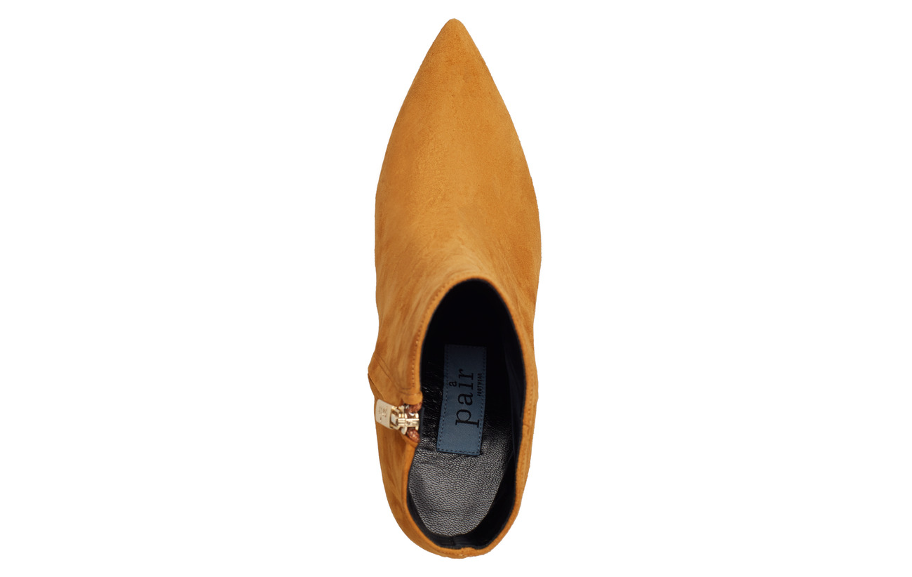 Low FrontcognacApair Bootie Pointed Bootie Pointed High Low High kXiZPuOT