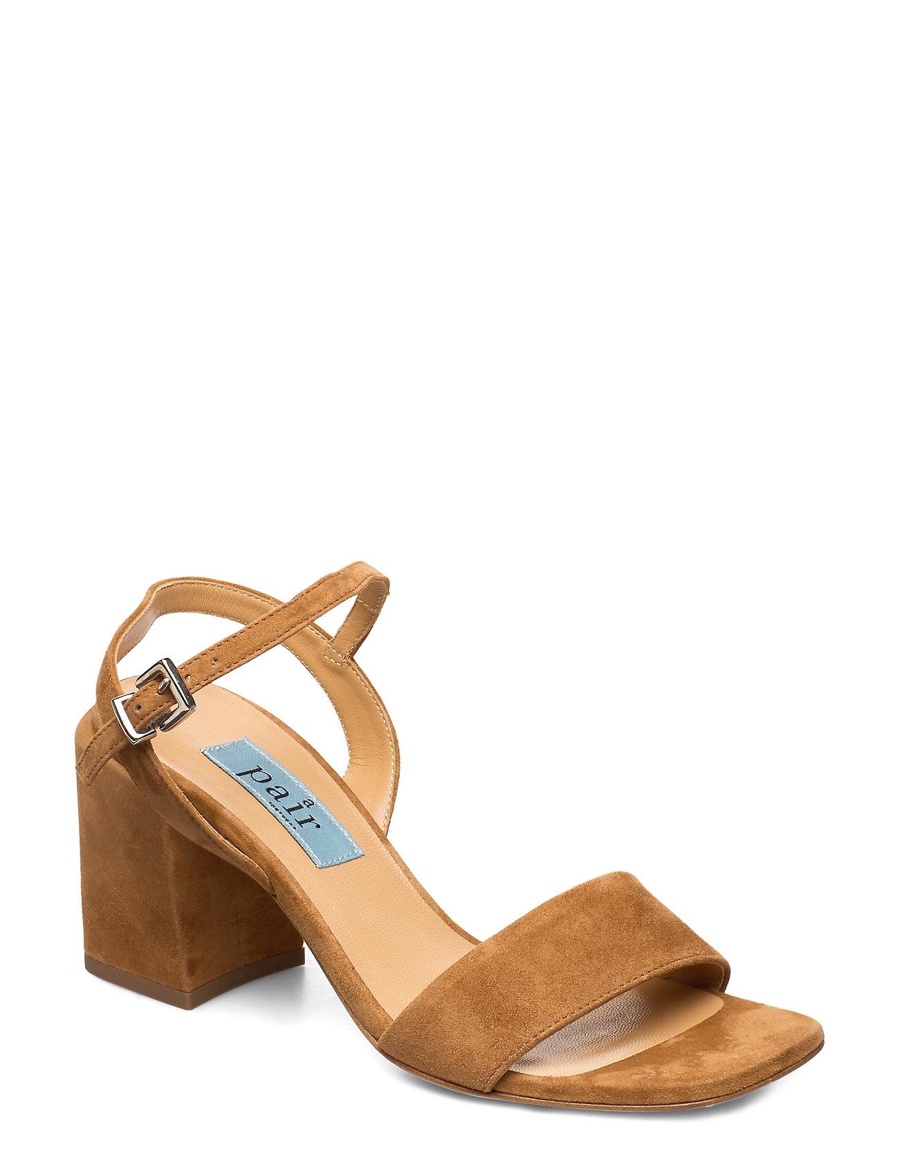 Image of Chunky Classic Square Sandal Sandal Med Hæl Brun Apair (3351890879)