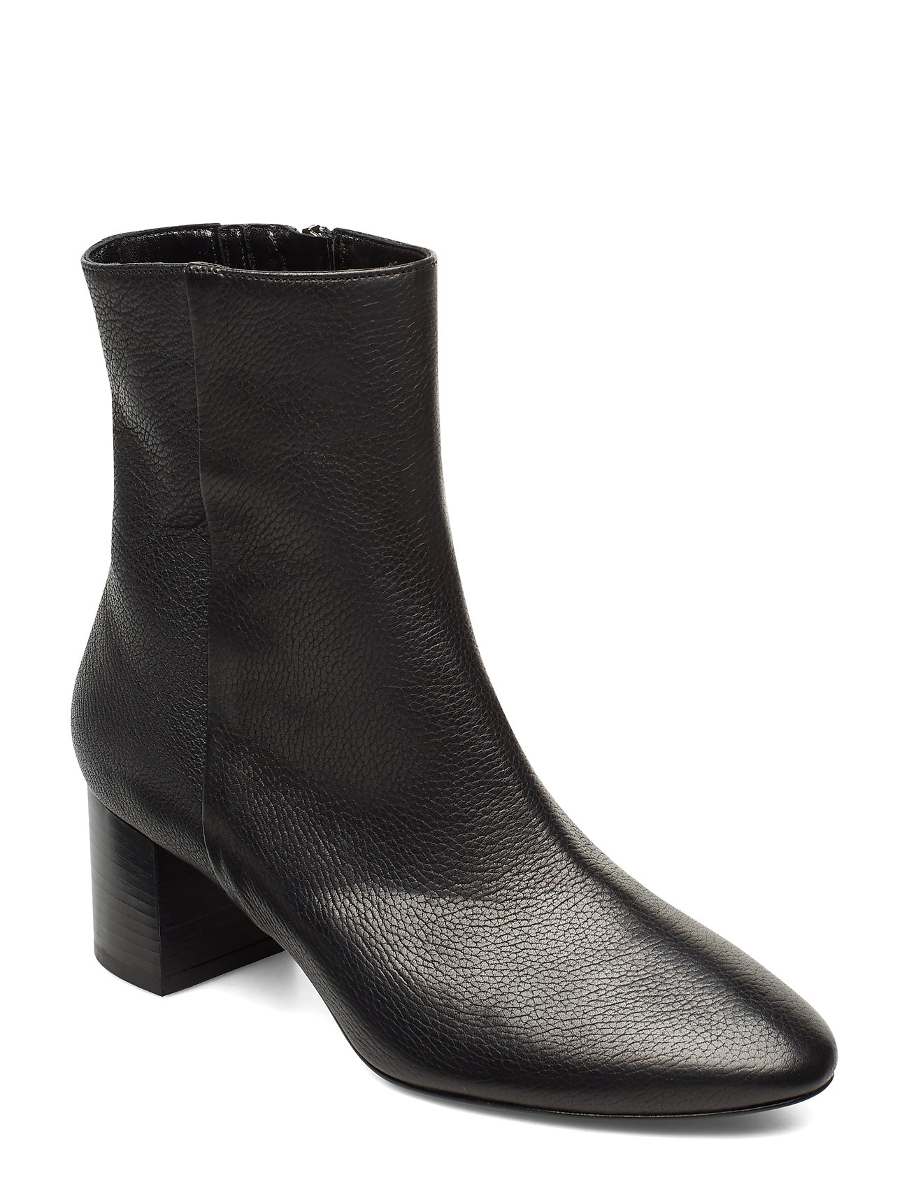 Image of Plan Low Rounded Bootie Shoes Boots Ankle Boots Ankle Boot - Heel Sort Apair (3406234687)
