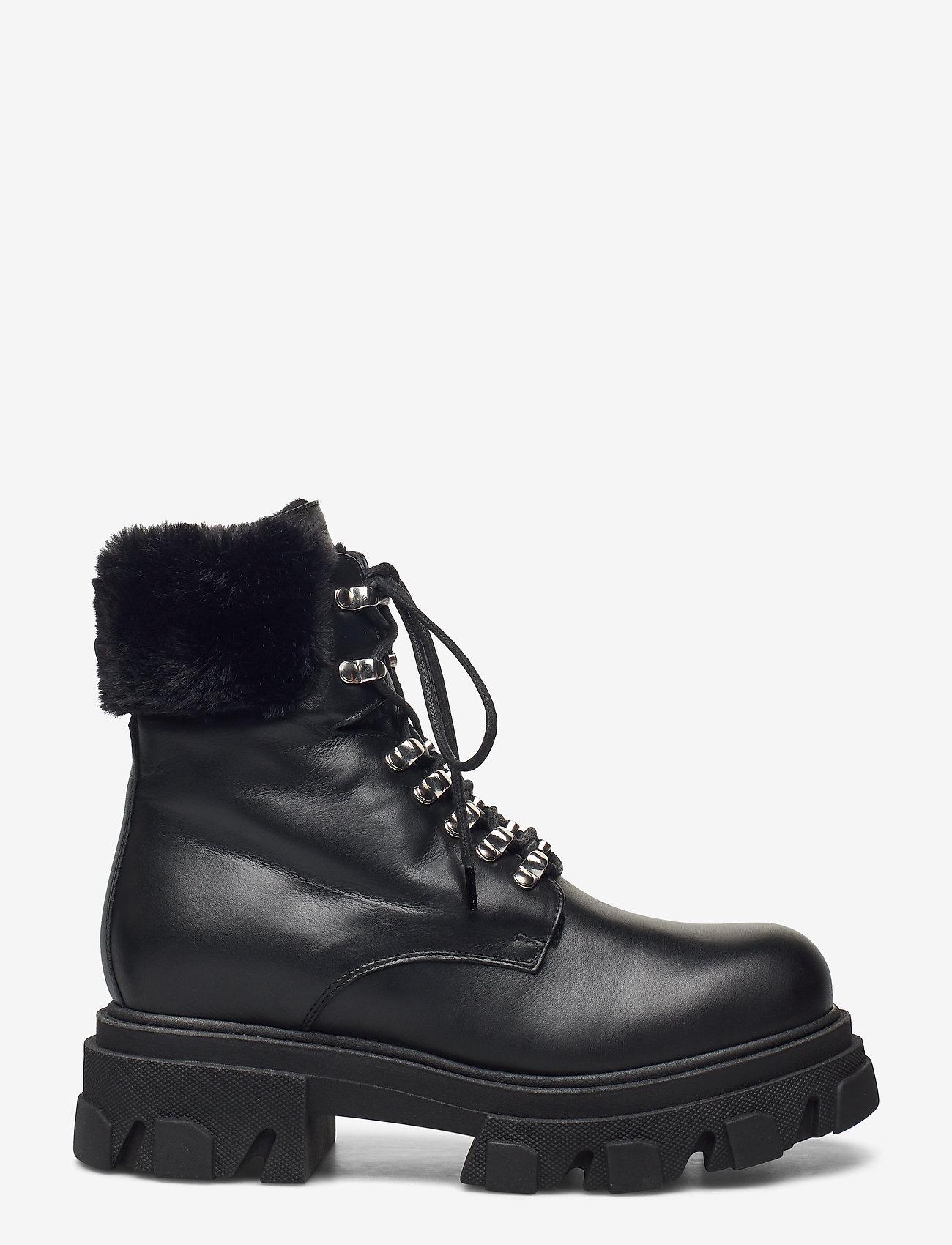 Apair - Chuncky ski - flat ankle boots - nero - 1