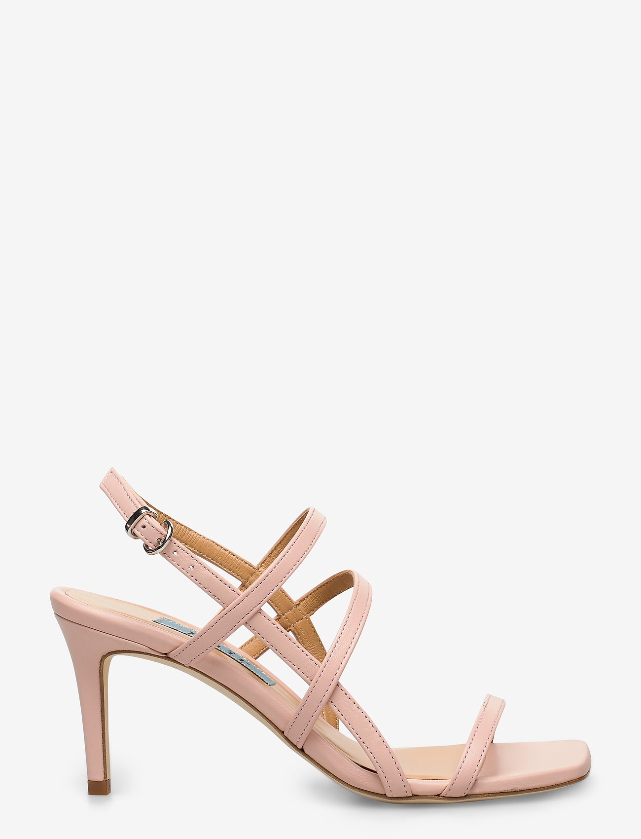 Apair - Square string sandal - høyhælte sandaler - nude